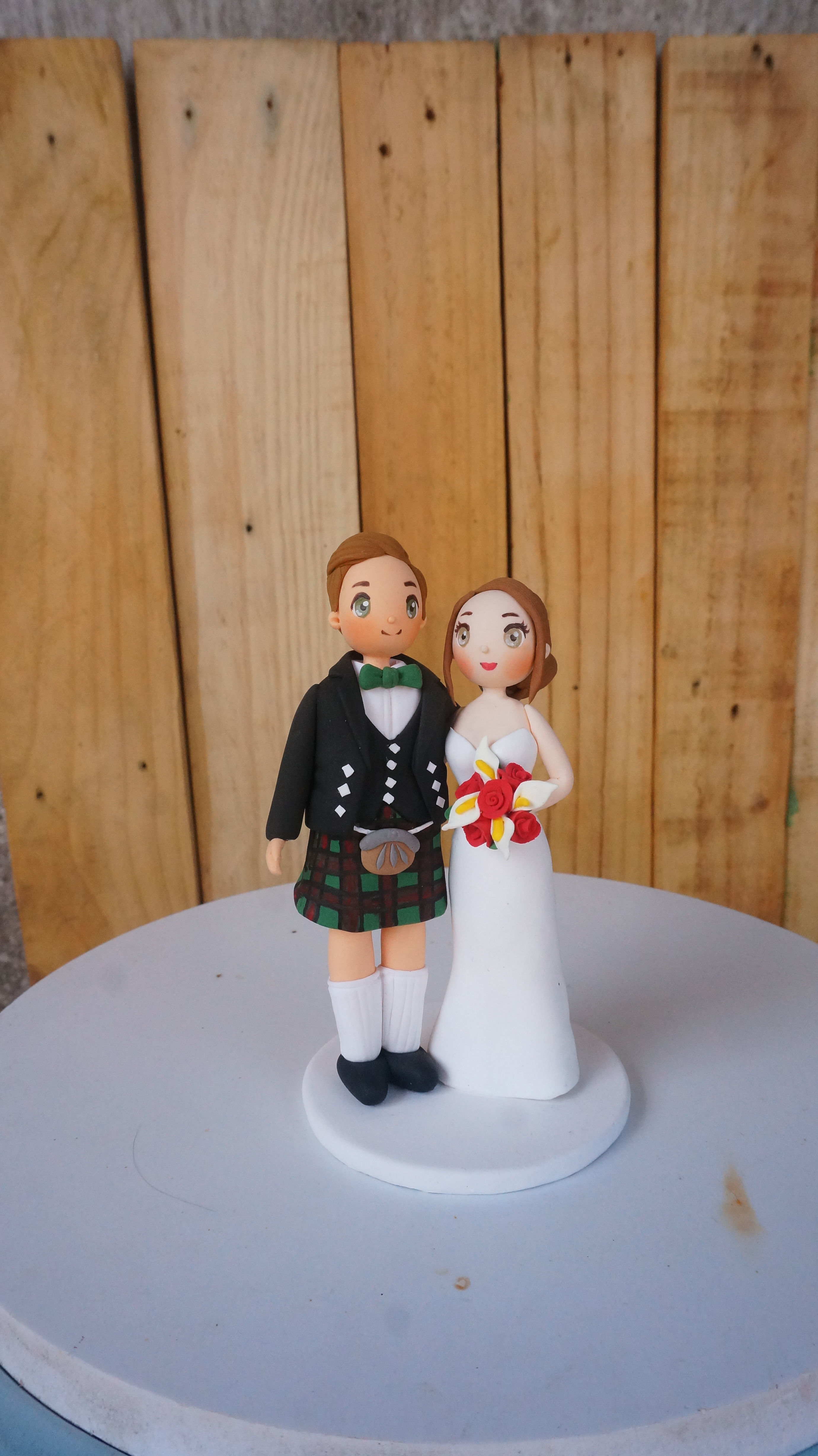 Picture of Kilt Wedding Cake Topper