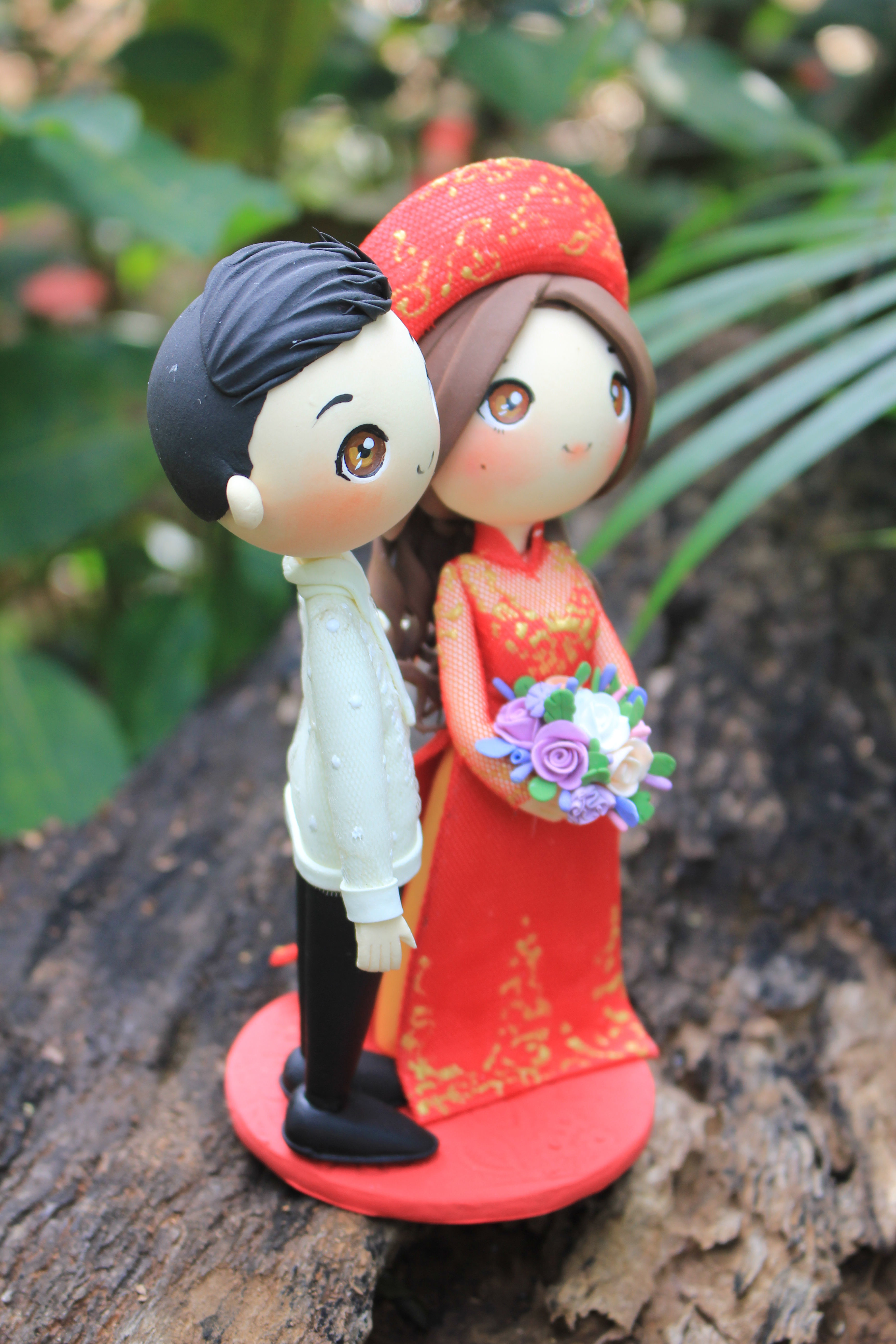 Picture of Vietnam and Philippine Wedding Cake Topper