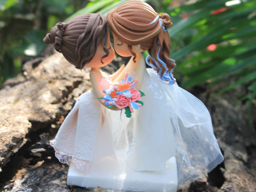 Picture of Lesbian Wedding Cake Topper