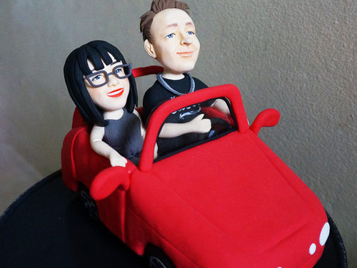 Picture of Convertible Wedding Cake Topper
