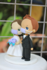 Picture of Quarantine wedding cake topper, Purple wedding topper