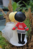 Picture of Quarantine wedding cake topper, Hockey fan wedding cake topper