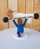Picture of Hilarious wedding cake topper, Weight lifting wedding cake topper
