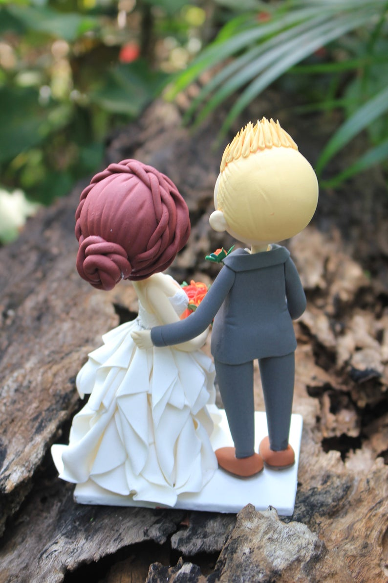 Picture of Love wedding cake topper clay doll