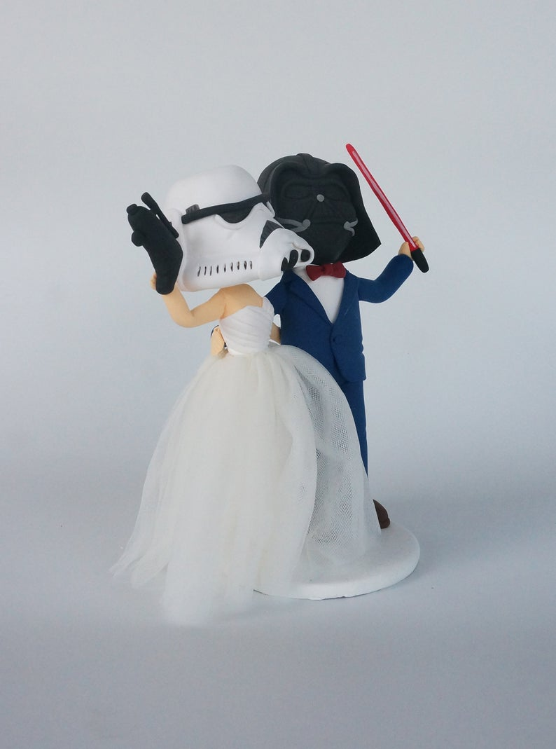 Picture of Wedding Cake Topper, Star War wedding couple