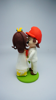 Picture of Wedding cake topper, Mario and Peach clay miniature