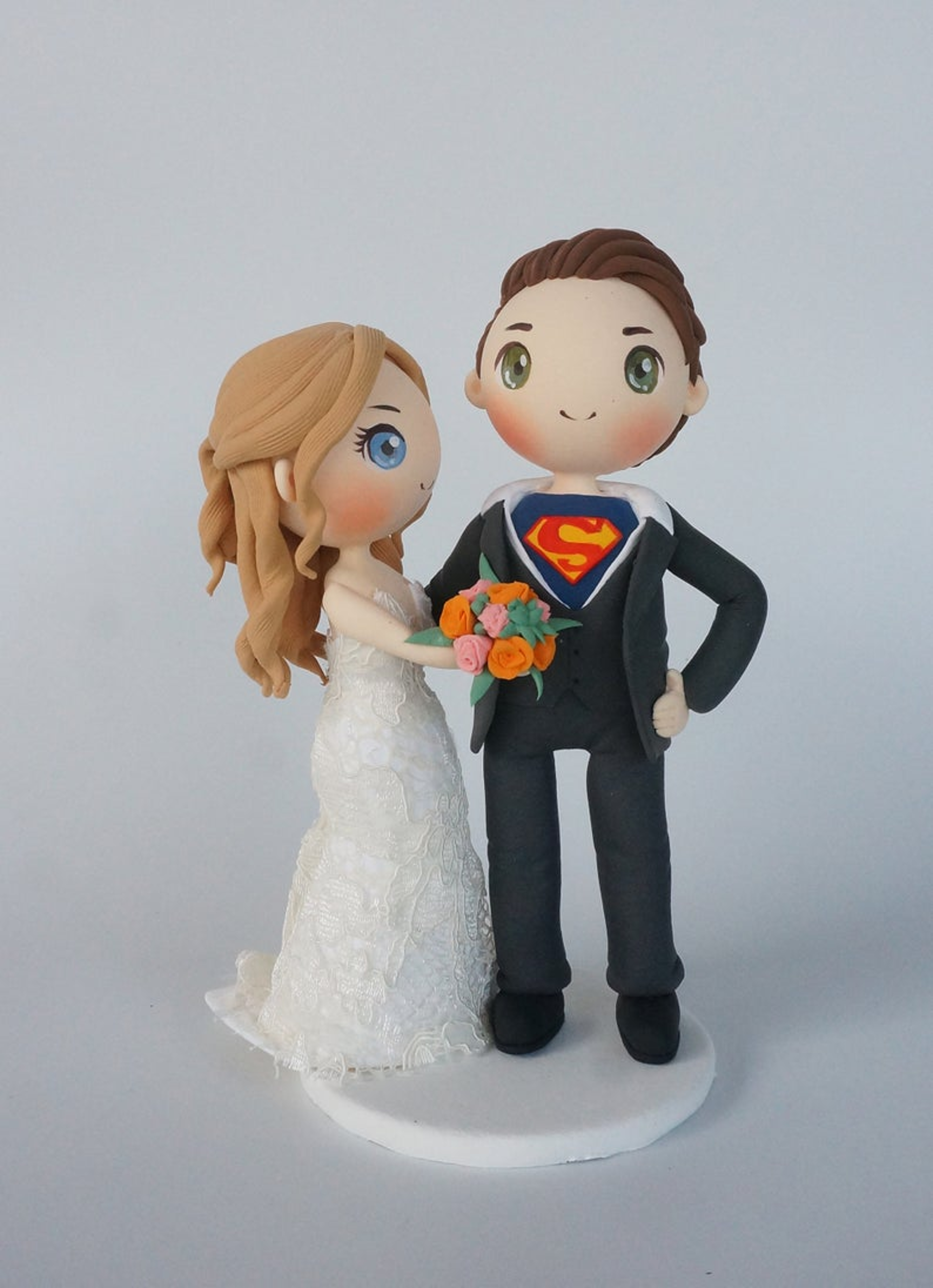 Picture of Superhero wedding cake topper