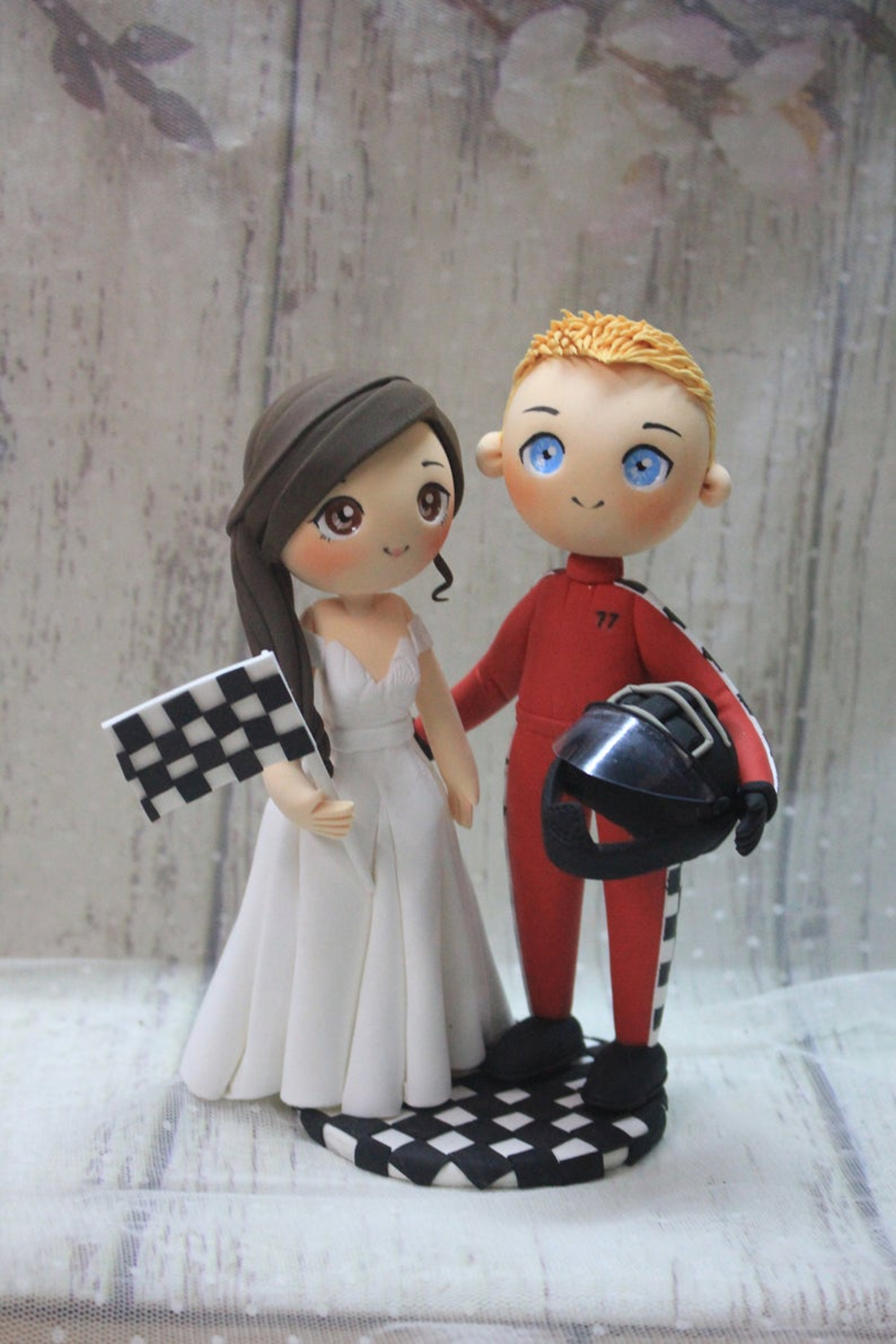 Picture of F1 wedding cake topper