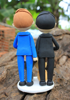 Picture of Gay wedding cake topper with pet