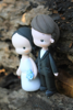 Picture of Baby blue wedding cake topper
