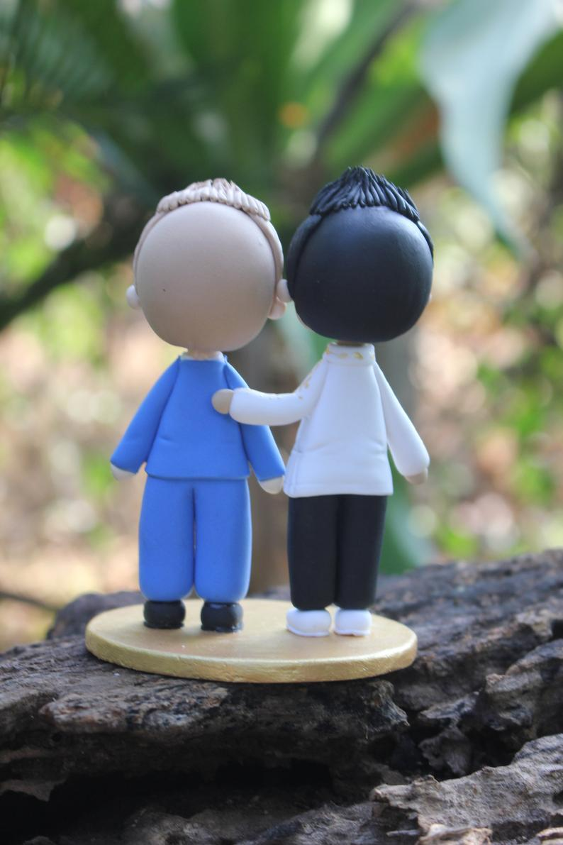 Picture of Gay wedding cake topper
