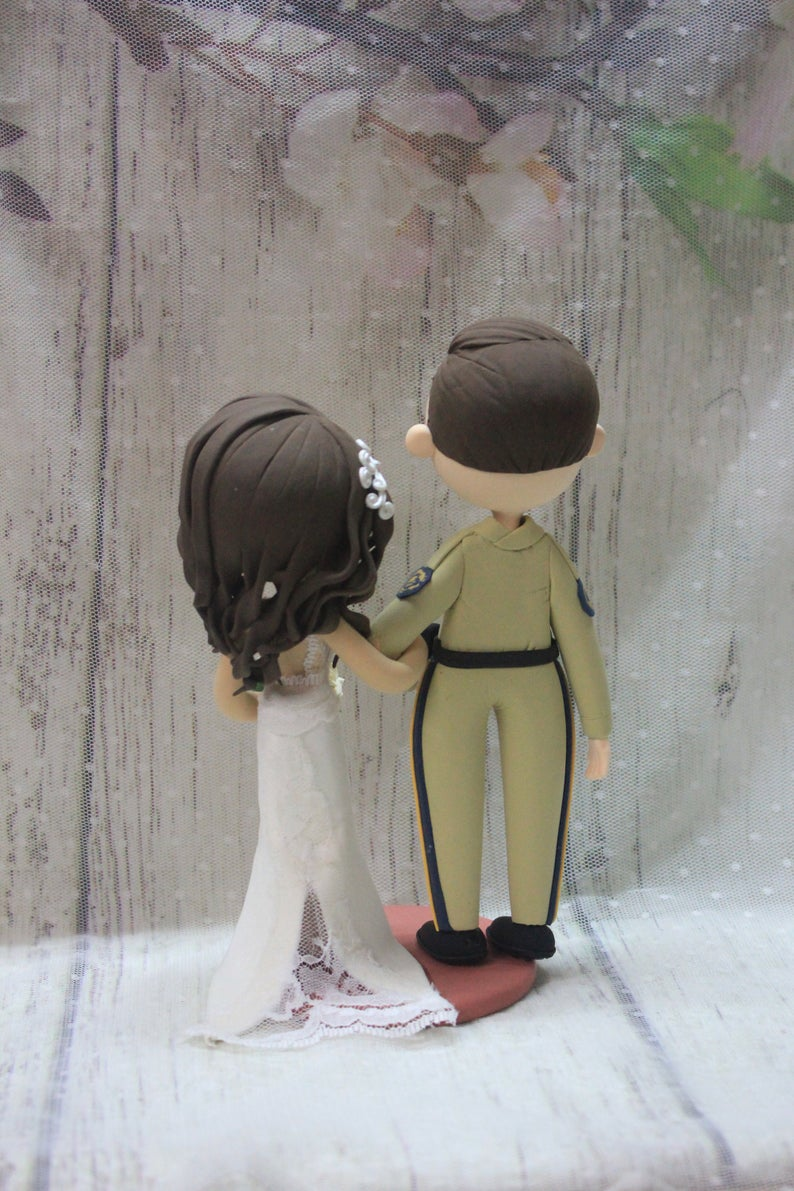Picture of Military wedding cake topper