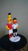 Picture of Gay wedding cake topper, Funny love pinch wedding cake topper
