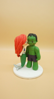 Picture of Hulk and Mermaid wedding cake topper figurine